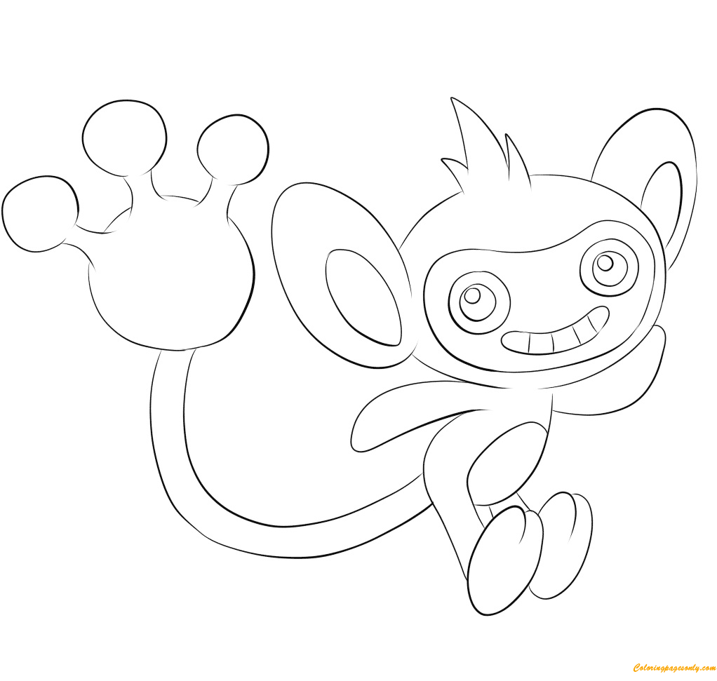 Aipom Pokemon Coloring Page