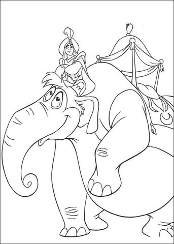 Aladdin Is Riding An Elephant  from Aladdin