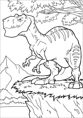 Allosaurus Coloring Moving