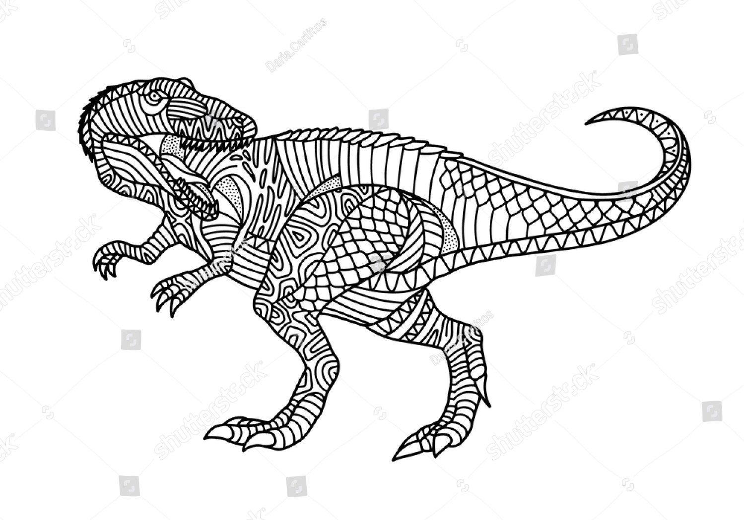 Allosaurus Details Coloring Page