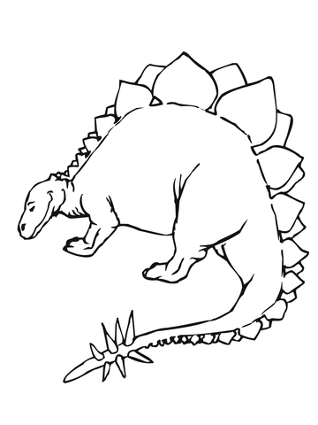 Allosaurus dinosaurs with thorns Coloring Page