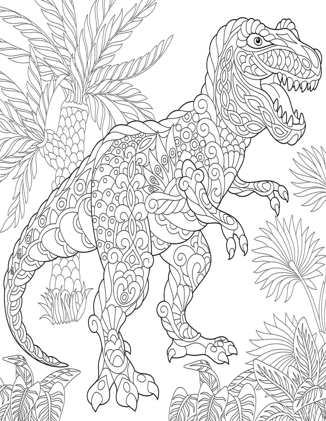 Allosaurus Dinosaurus Splendid Coloring Page