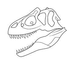 Allosaurus Skull Coloring Page