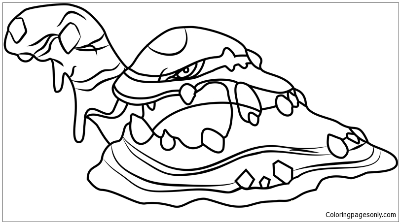 Alola Muk Pokemon Sun And Moon Coloring Page Free