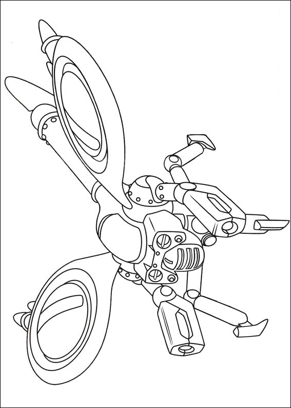 Am Ant Robot is one of enemy of Atom Astro Coloring Page