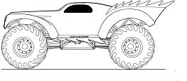 Amazing Monster Truck Coloring Page