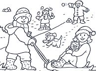 Amazing Snow Coloring Page