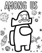 Among Us Robot Coloring Page