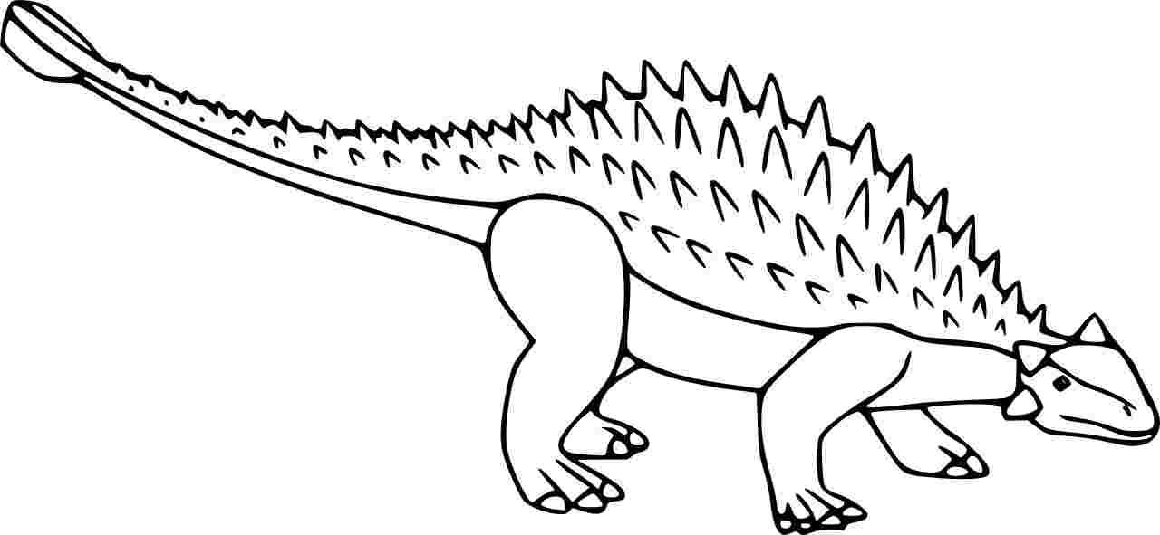 Amtosaurus Ankylosaurus Dinosaurus Coloring Page