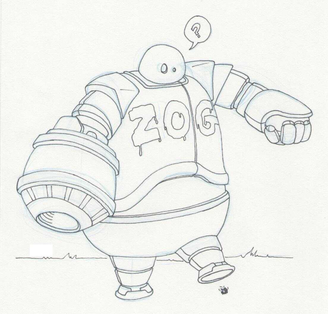 An AI-enabled robot named Z.O.G from Astro Boy Animation Film Coloring Page