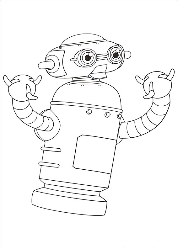 Nora is a housekeeper and guardian robot of Astro in Astro Boy Coloring Page