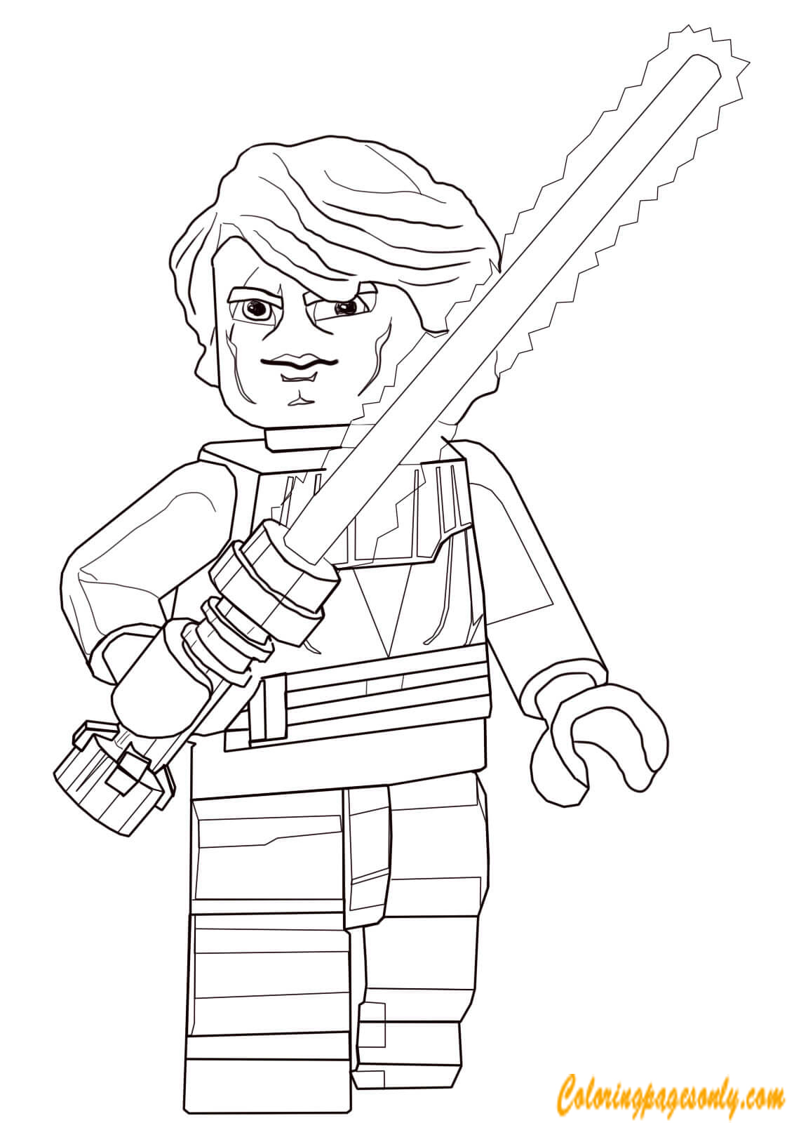 Anakin Skywalker from Lego Star Wars Coloring Page - Free ...