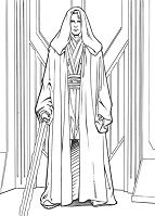 Anakin Skywalker from Star Wars 1 Coloring Page