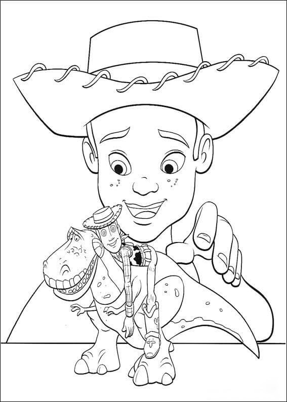 Andy and his toys Coloring Page