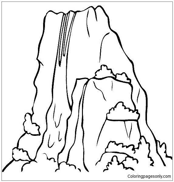 Angel falls venezuela waterfall coloring page free for Waterfall coloring page