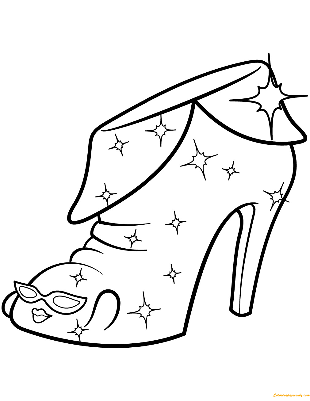 angie ankle boot shopkin season 2 coloring page free