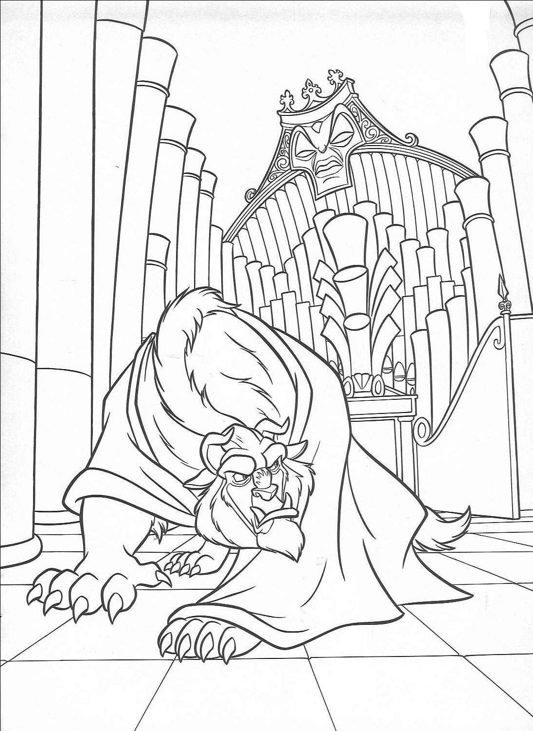 Angry Beast Coloring Page