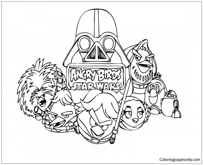 Angry Birds Star Wars Coloring Page - Free Coloring Pages Online