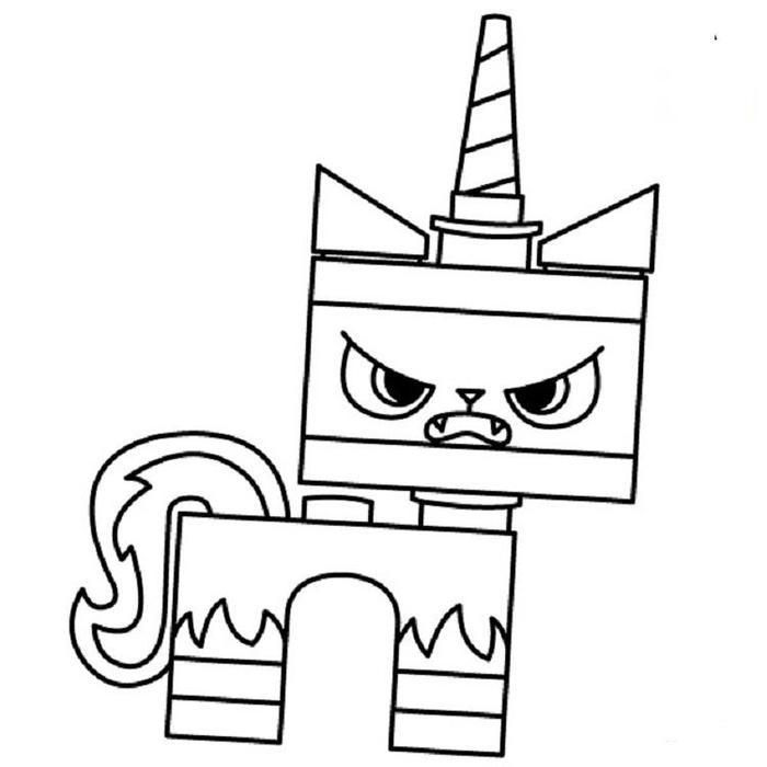 Angry Unikitty Lego Coloring Page