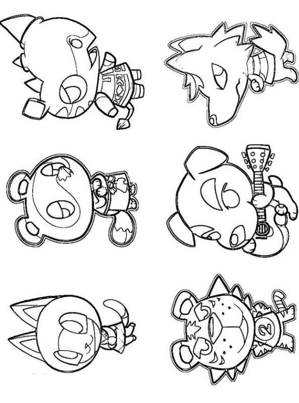 Animal crossing Coloring Page