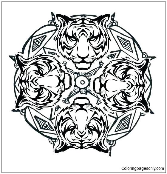 Animal Mandala 2 Coloring Pages - Mandala Coloring Pages - Coloring Pages  For Kids And Adults