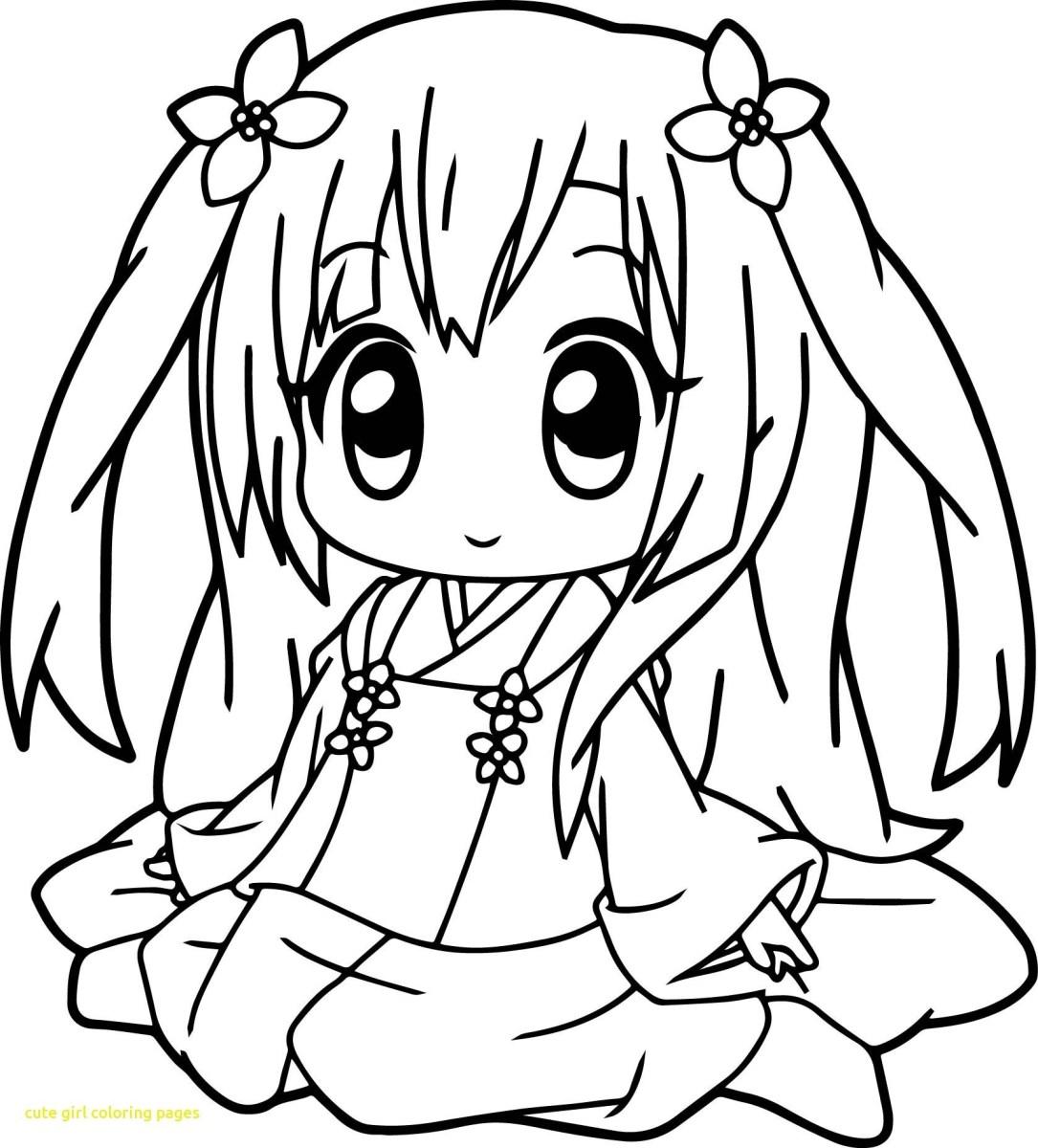 Anime Girl with kimono Coloring Page