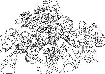 Anime Skylanders Coloring Page