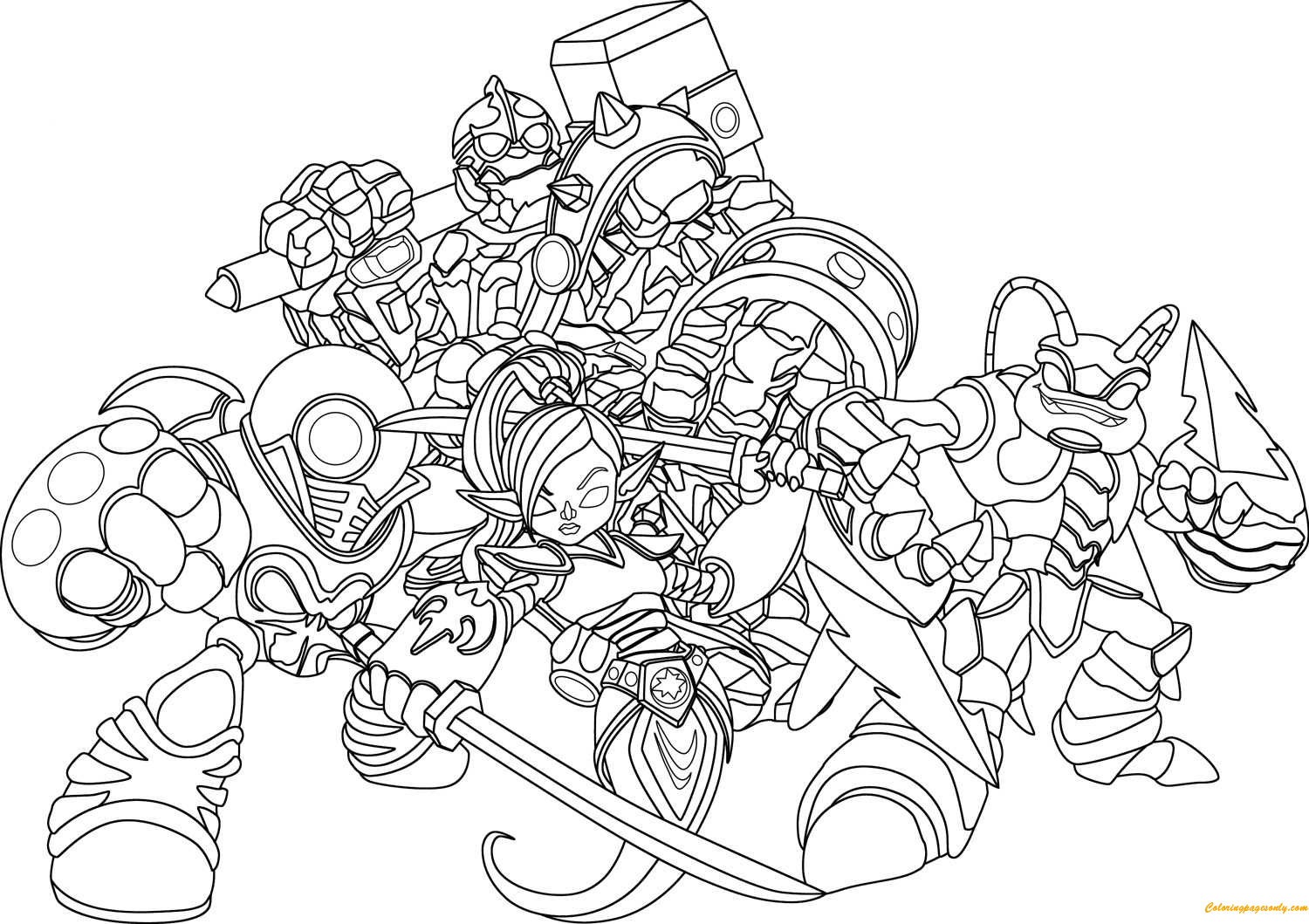 Anime Skylanders Coloring Page Free Coloring Pages Online