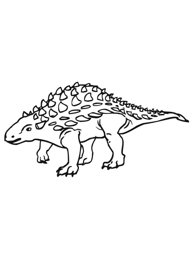 Ankylosaurus Ankylosaurid Dinosaur Coloring Page