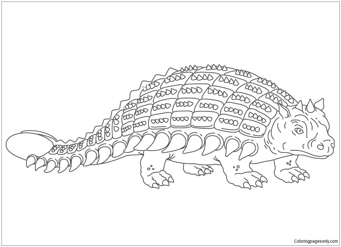 Ankylosaurus Armored Dinosaur Coloring Page
