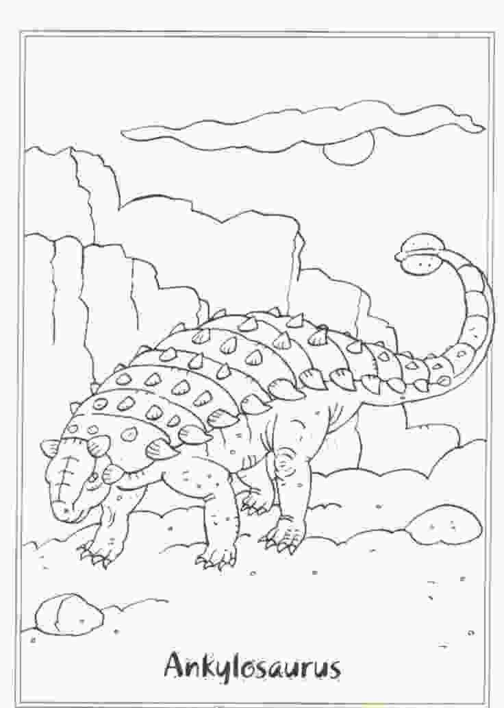 Ankylosaurus Dinosaur awesome legendary Coloring Page