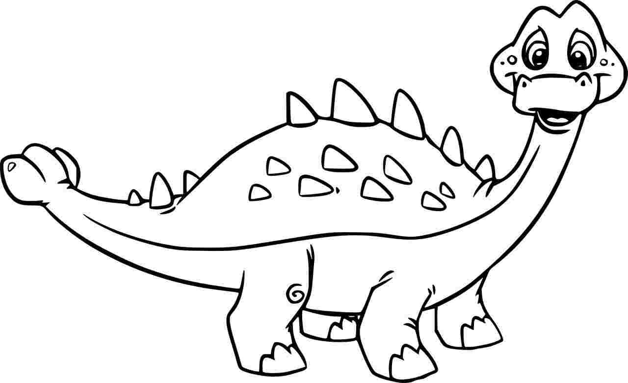 Ankylosaurus Dinosaurus Cartoon Coloring Page
