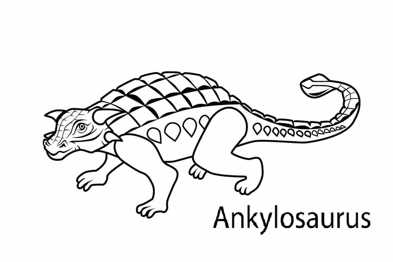 Ankylosaurus is a genus of armored dinosaur. Coloring Page
