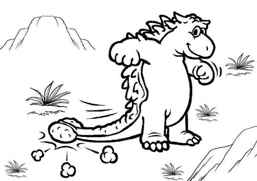 Ankylosaurus lovely free line for kids Coloring Page