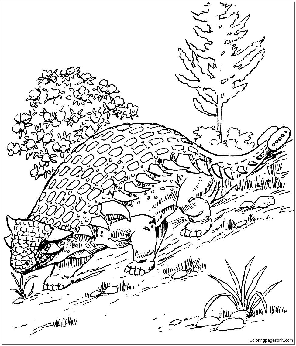 Ankylosaurus Dinosaur 1 Coloring Page