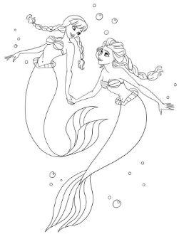 Anna And Elsa As Ariel