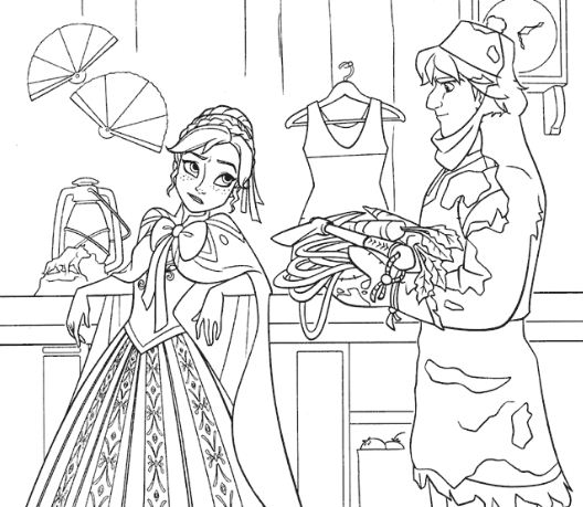 Anna Meets Kristoff In The Store