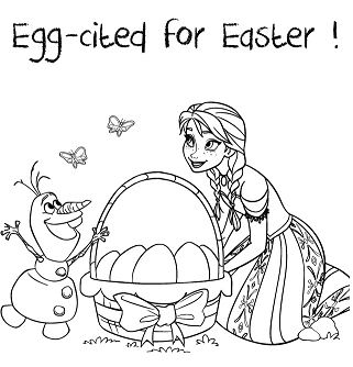 Anna Olaf Egg Cited For Easter Coloring Page