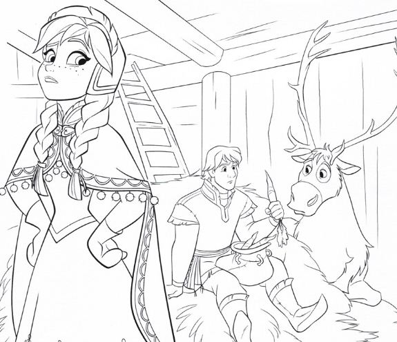 Anna With Kristoff And Sven