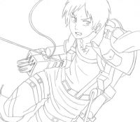 Eren From Attack On Titan Coloring Page