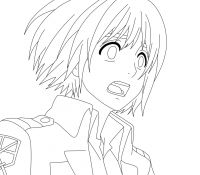 Mikasa Ackermann Attack on Titan Coloring Page