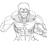 Titan Eren Coloring Page