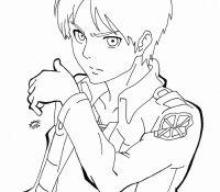 Levi Attack On Titan Coloring Page