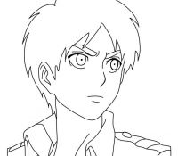 Levi AOT Coloring Page