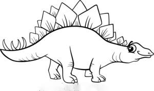 Apatosaur Stegosaur Coloring Page