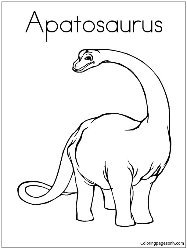 Apatosaurus 2 Coloring Page Free Coloring Pages Online