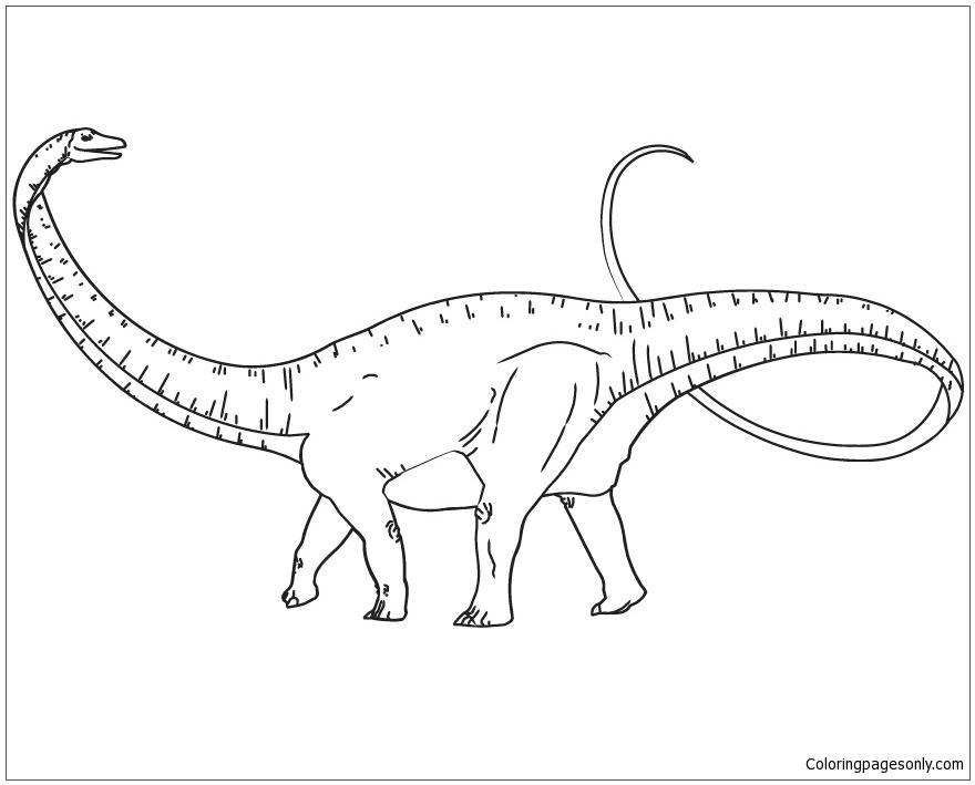 Apatosaurus Dinosaur 1 Coloring Page