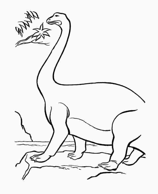 Apatosaurus Dinosaur on the ledge Coloring Page