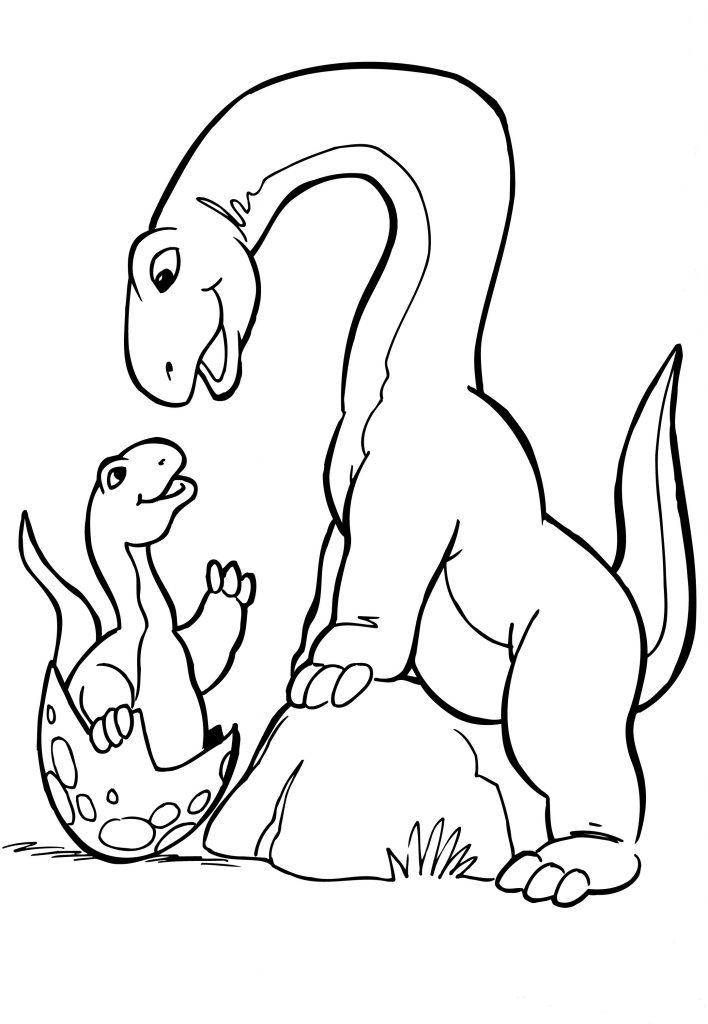 Apatosaurus Dinosaurus egg Coloring Page