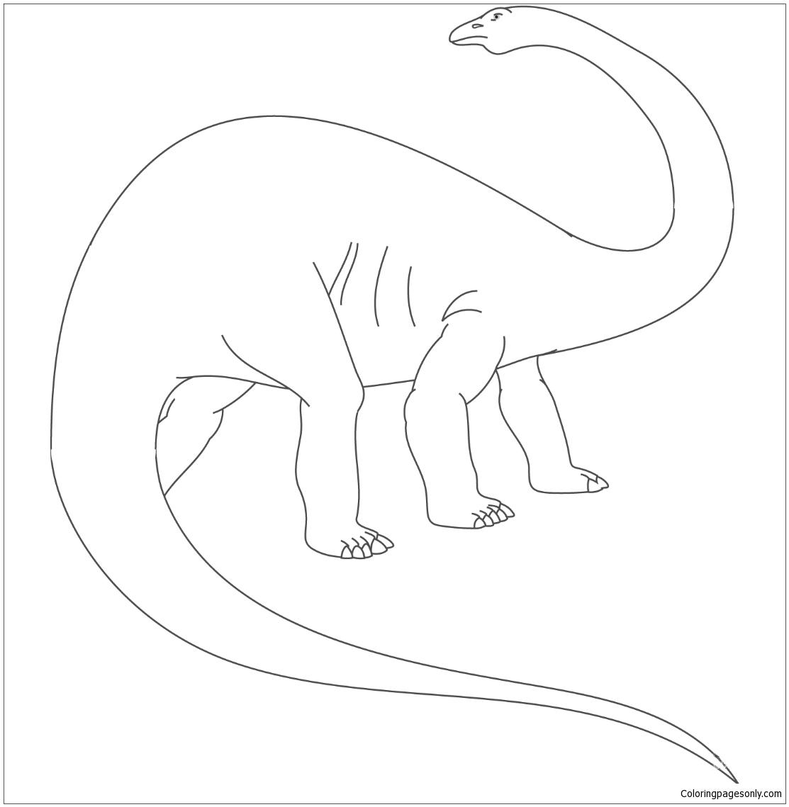 Apatosaurus Jurassic Dinosaur Coloring Page